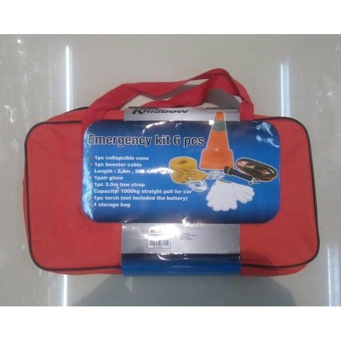 ORIGINAL -  emergency kit set krisbow tools alat perlengkapan darurat mobil