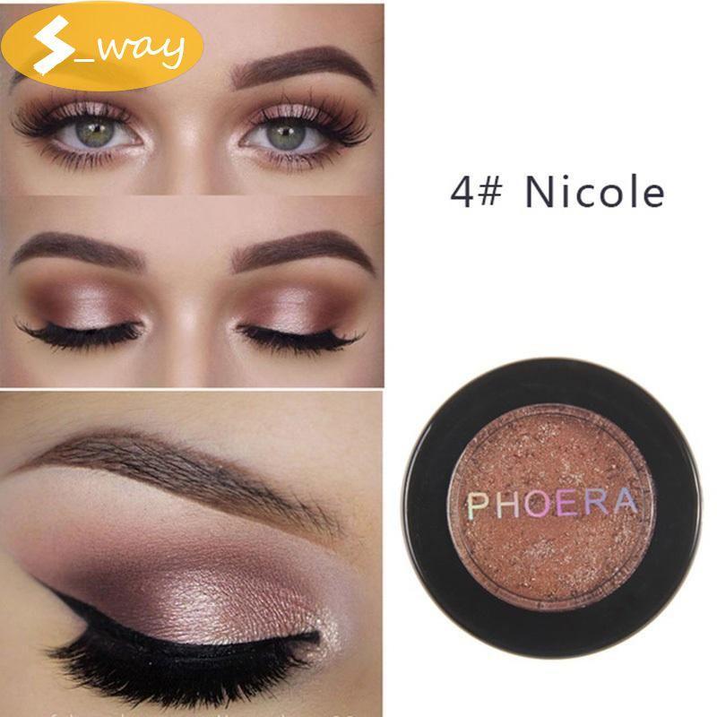 Sway PHOERA 4#Nicole glitter metal eyeshadow makeup glitter eye shadow natural eye shadow palette