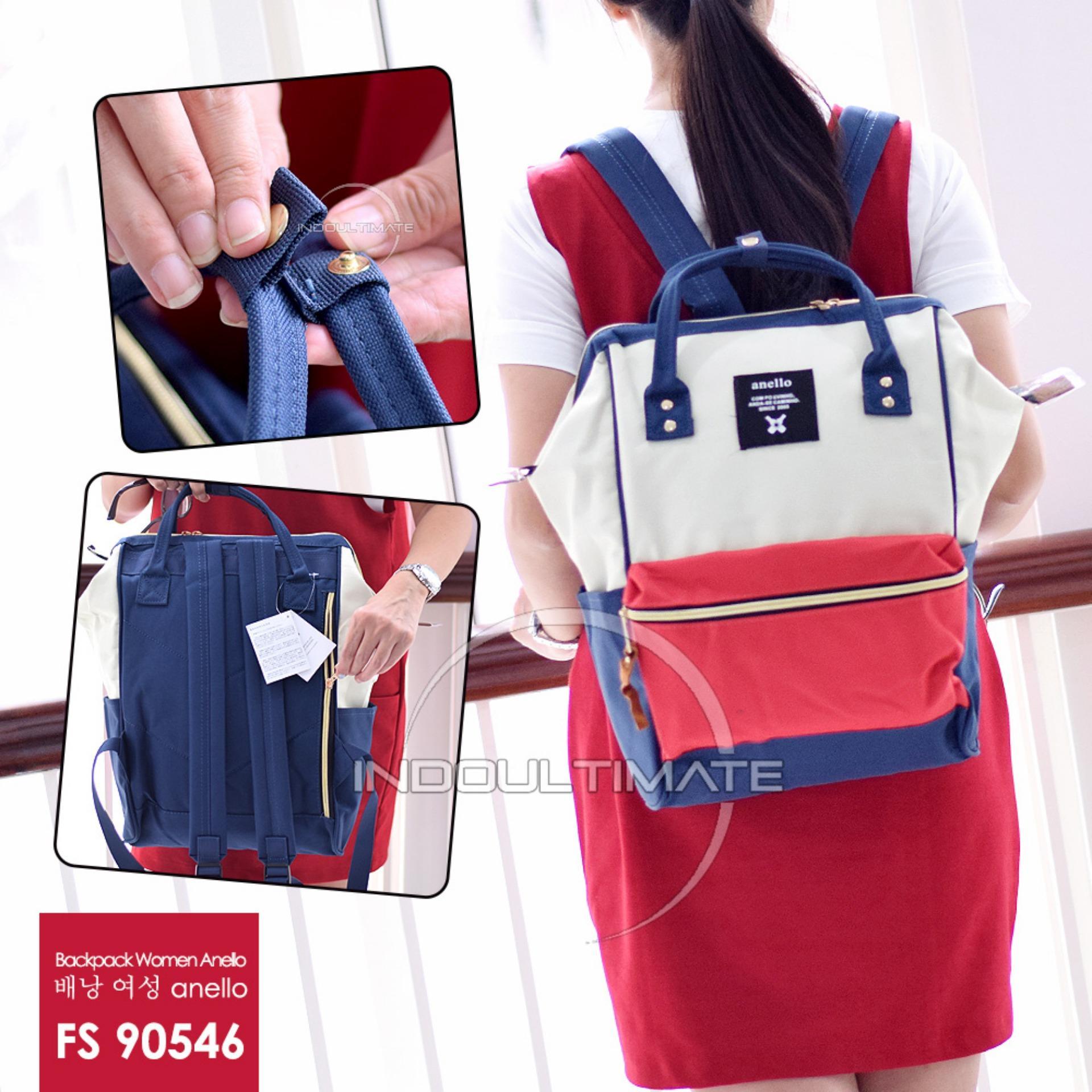Pusat Jual Beli Ultimate Tas Ransel Wanita Fs 90546 Red White Blue Tas 2In1 Cewek Backpack Korea Import Batam Murah Branded Cantik Jawa Timur