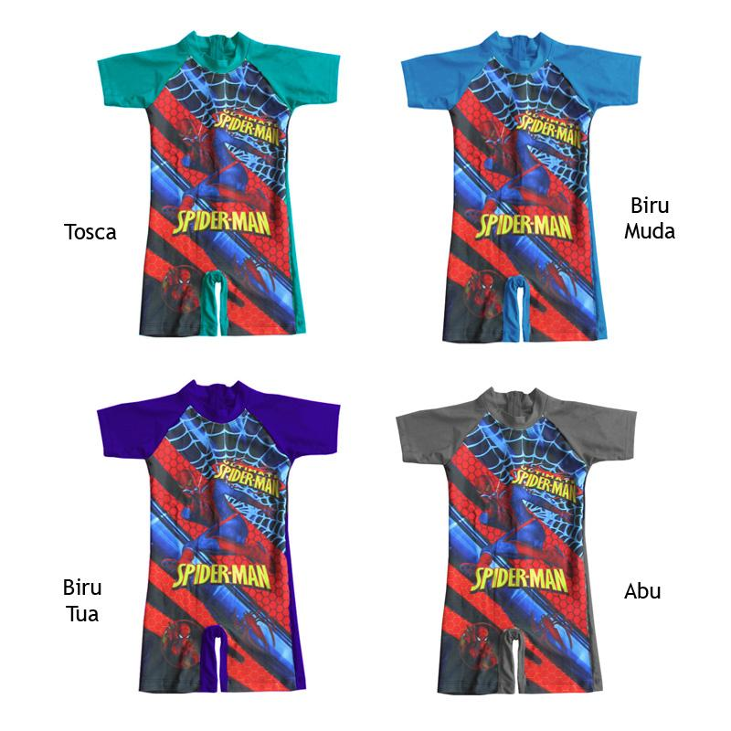 ... Baju Renang Diving Anak Karakter Spiderman Size TK - 5