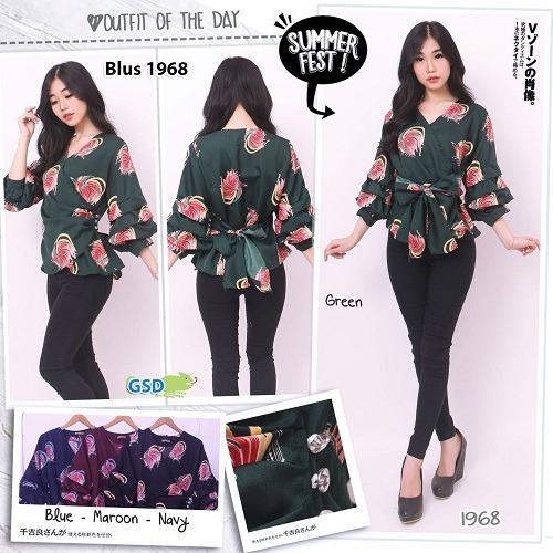 Harga Gsd Baju Atasan Baju Wanita Blouse Baju Cewek Blus Casual 1968 Fullset Murah