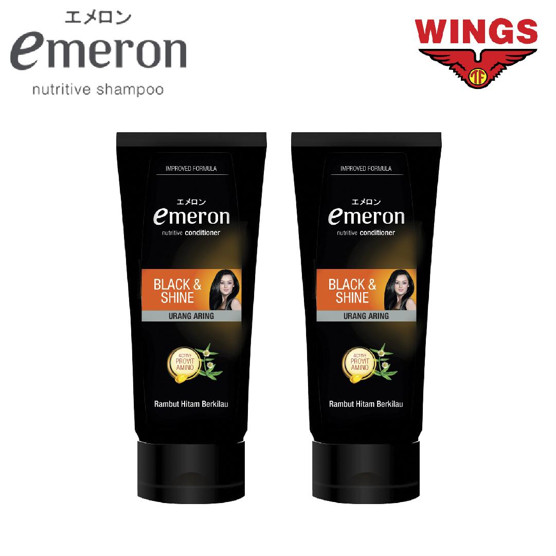 Kelebihan Twin Pack Emeron Shampoo Conditioner Black And Shine Wardah Nutri 170 Ml 3