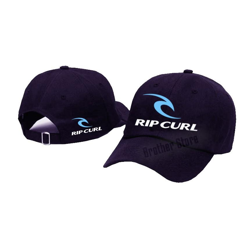 Topi Baseball Distro RIPCURL UK White Logo Light Blue - Black Premium