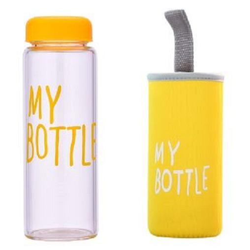 Pouch Botol Minum Source My Bottle New Doff Botol Warna Warni 500ml Hijau .