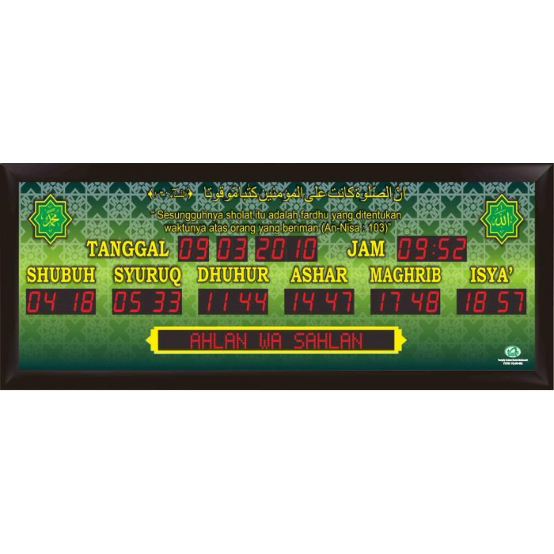 Jam Masjid Digital Ukuran Jumbo QH Frame Minimalis