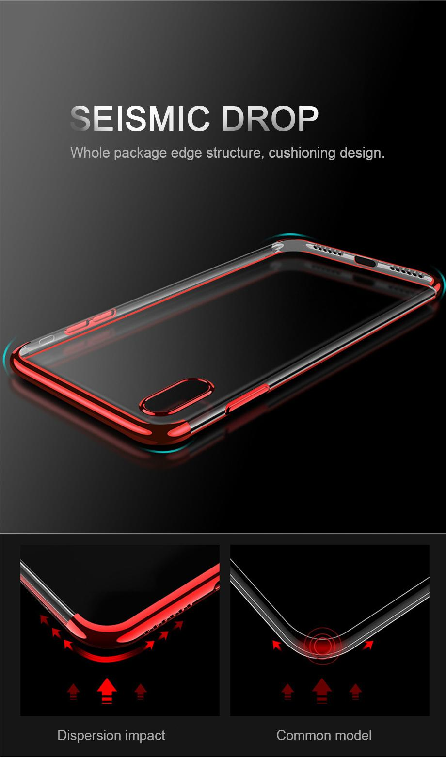 Fitur Case Iphone X Electroplating List Chrome Luxury Soft Back Motomo Vivo Y21 Hardcase Color Premium 3