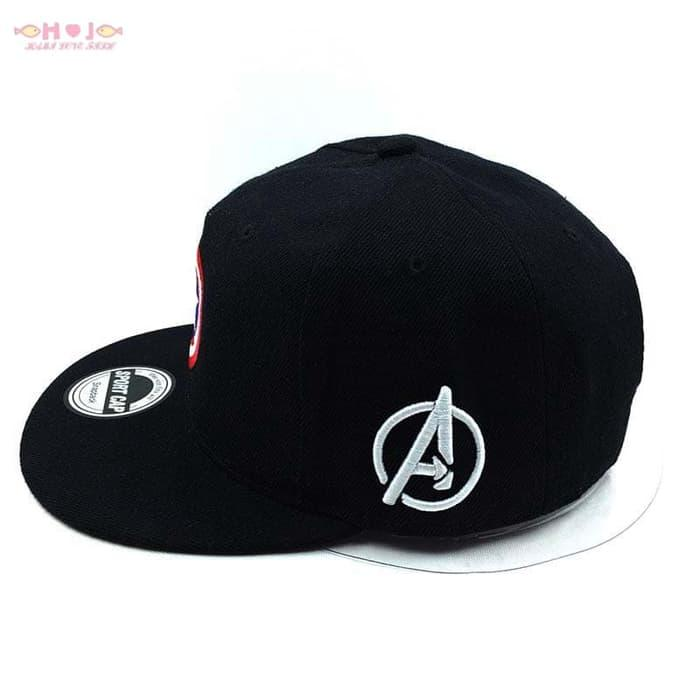 Topi Snapback captain america marvel avengers cosplay trucker cap - gWQCy0 - 4 .