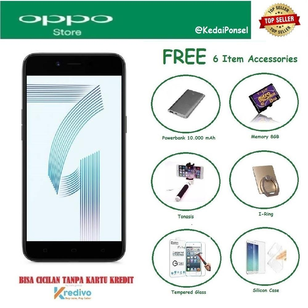 OPPO A71 (2018) [3/32GB] + Free 6 Item Accessories
