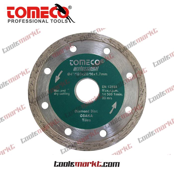ORIGINAL - Tomeco 105mm Mata Potong Basah Diamond Cutting Wheel Wet 4