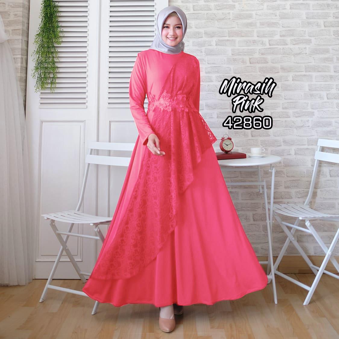 TotallyGreatShop Gamis Pesta Brukat Premium Original real pic Fashion Busana Kondangan Muslimah Gaun Kebaya Pesta Brokat