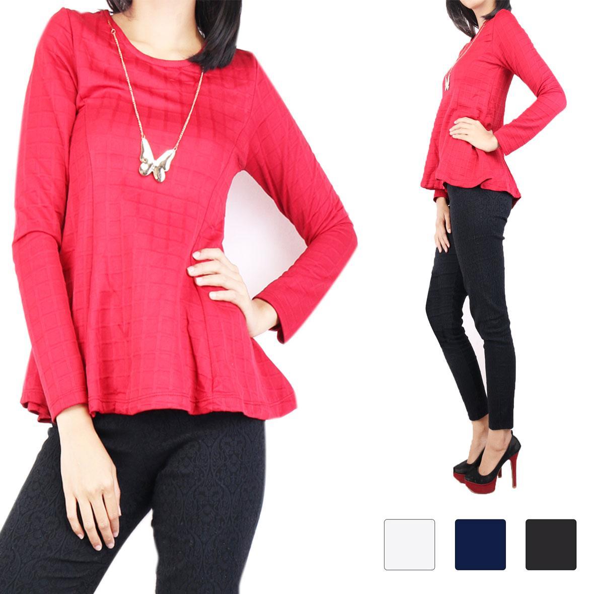 Oma Fashion Calvin Blouse Lengan Panjang- 4 Warna - Size M