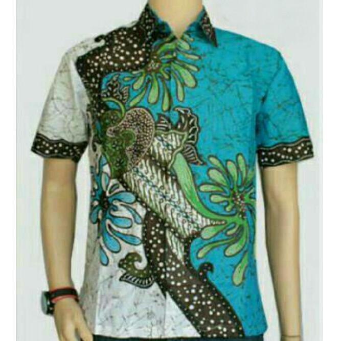 Toko Model Kemeja Batik Pekalongan Batik Pria Baju Batik Kantor Jagad Kuning Termurah