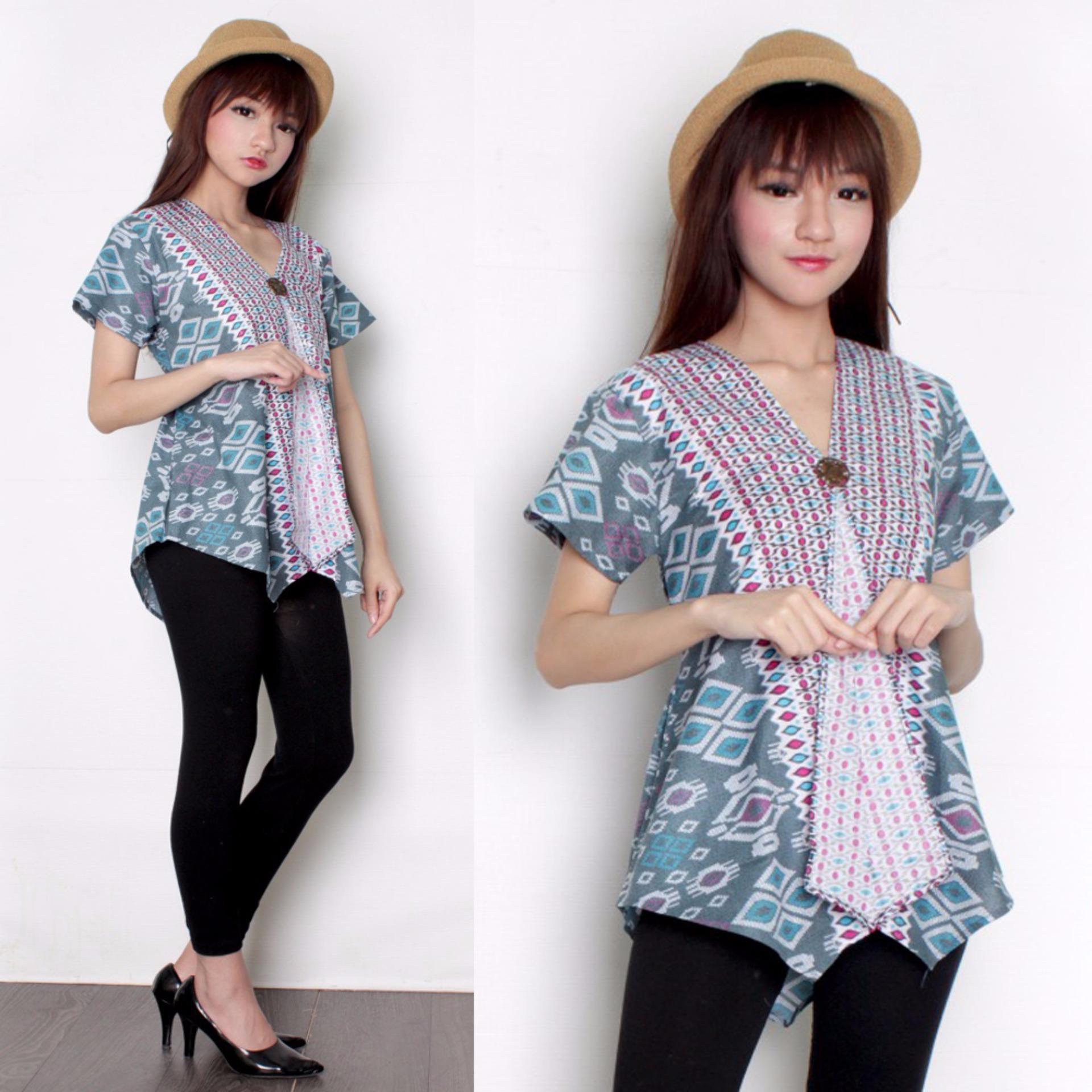 Sb Collection Atasan Blouse Savita Kemeja Jeans Biru Muda Daftar Source · SB Collection Atasan Blouse Callia Kemeja Wanita Biru