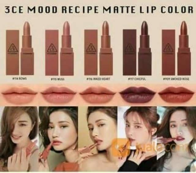 Fitur 3ce Mood Recipe Lip Color Mini Kit By 3 Ce 1 Box 5 Pcs Nude