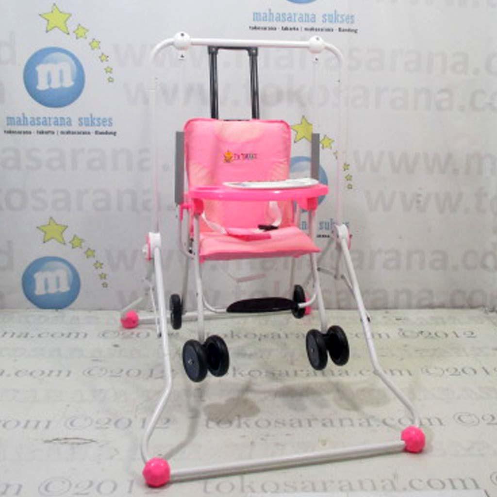 Jakarta Go-Send Tajimaku TJMBS203 Train 2 in One  Baby Swing dan Chair Stroller