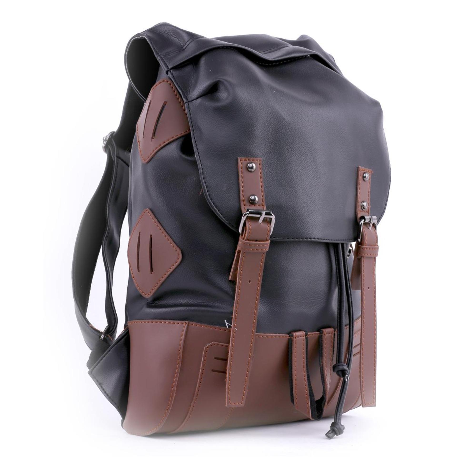 Branded Grc premium-Tas kerja pria hitam colombo-backpack ransel keren
