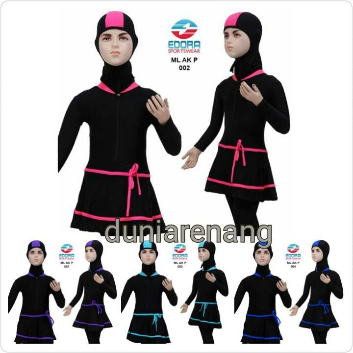 Baju Renang Anak Muslim Muslimah Usia 2-7 Tahun ML-AK-020