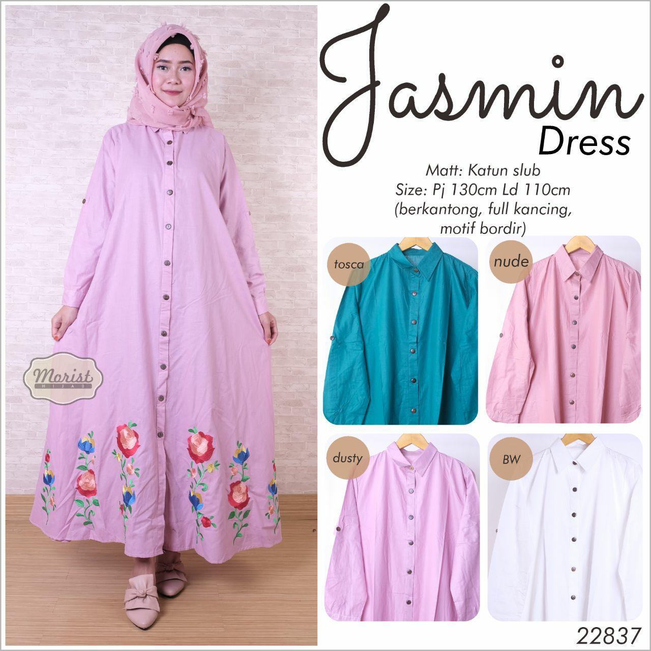 Kelebihan Sandra Maxi Dress Gamis Katun Bordir Muslim Baju Koko Sandi Long Wanita Jasmin Xl Jumbo