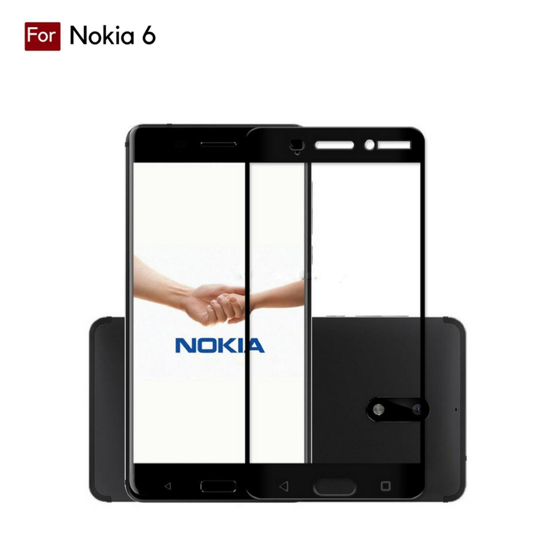 Kelebihan Tempered Glass Screen Protector Nokia 6 Terkini Daftar 5 Warna Full Cover Premium Corning For Black