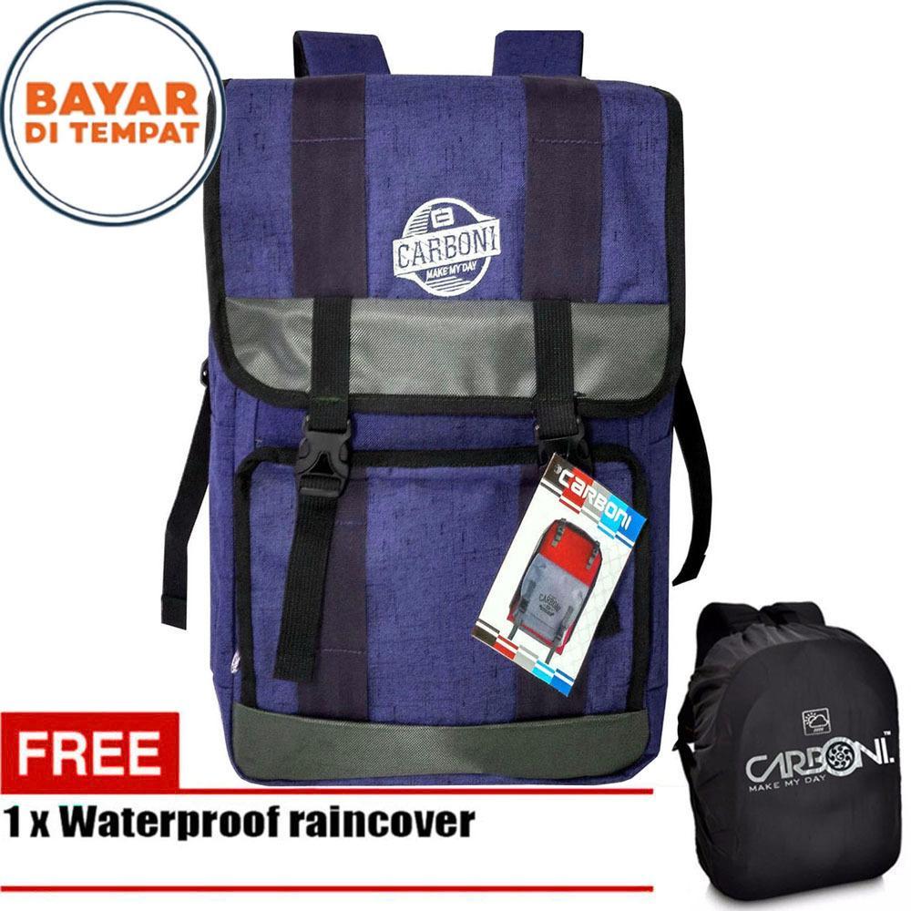 Situs Review Carboni Backpack Tas Ransel Semi Keril 45L Ra00044 18 Blue Original Raincover Waterproop