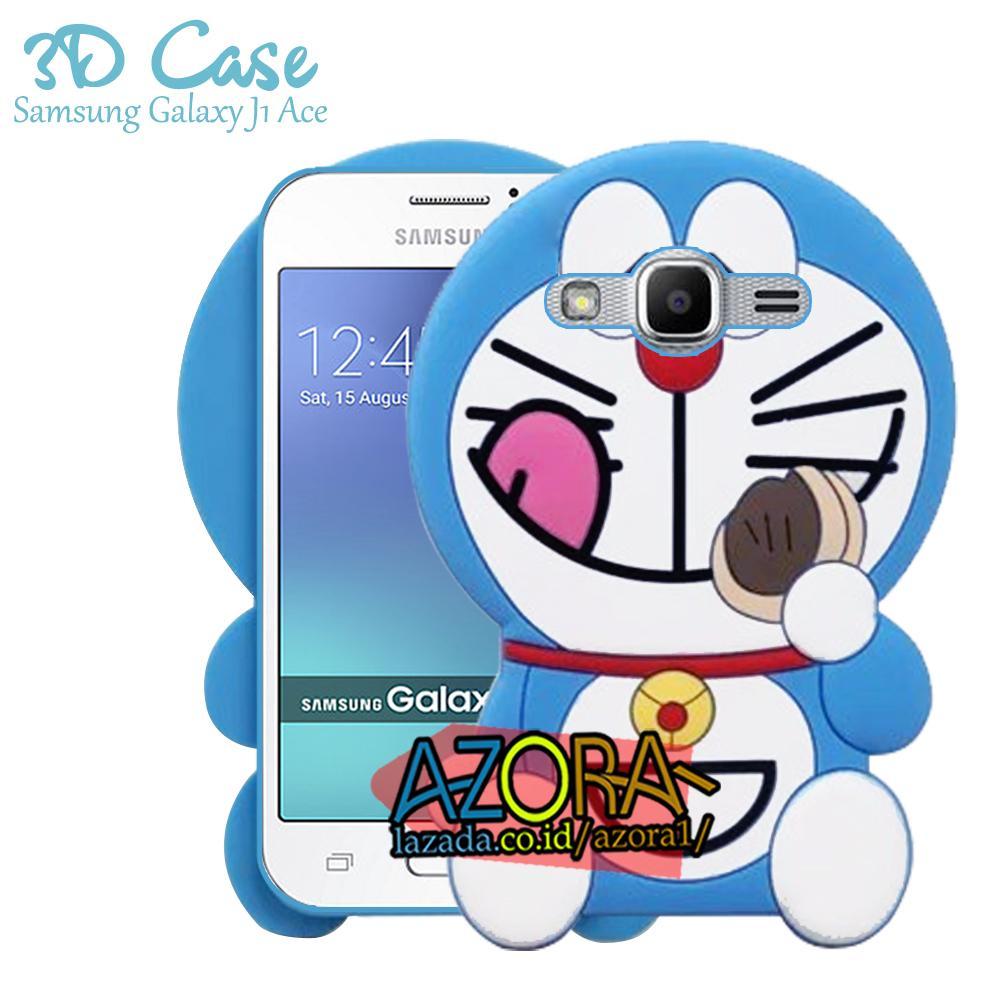 3D Case Samsung Galaxy J1 Ace Softcase 4D Karakter Boneka Hello Kitty Doraemon Lucu Character Cartoon