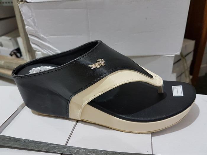 BlushBeaute Sandal Wanita / Sandal Wedges / Wedges Hitam / Wedges Wanita Terbaru / Wedges Boots