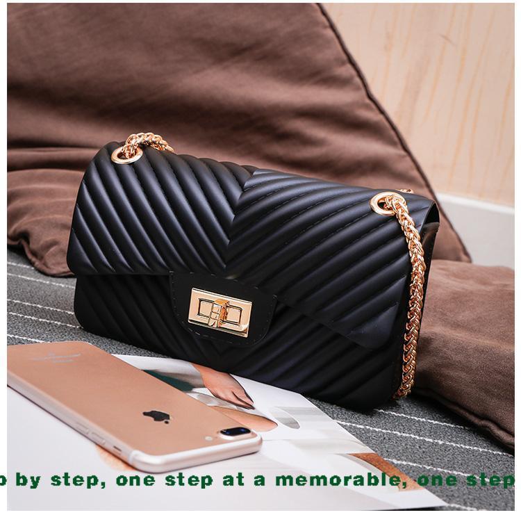Tas Fashion jelly matte mini bag import free boneka dan syal jely rantai  goll selempang motif 047beb5d17