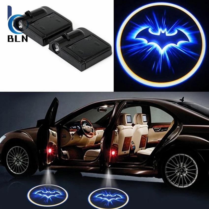 Toko 【Bln Auto】2Pcs Wireless Car Led Bulb Door Courtesy Light Logo Projector Lamp Batman Terlengkap Di Hong Kong Sar Tiongkok