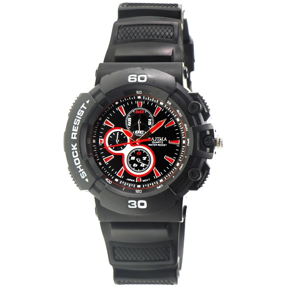 Harga Tajima Analog Jam Tangan Pria Merah Rubber 5058 Gc 02 Dan Spesifikasinya
