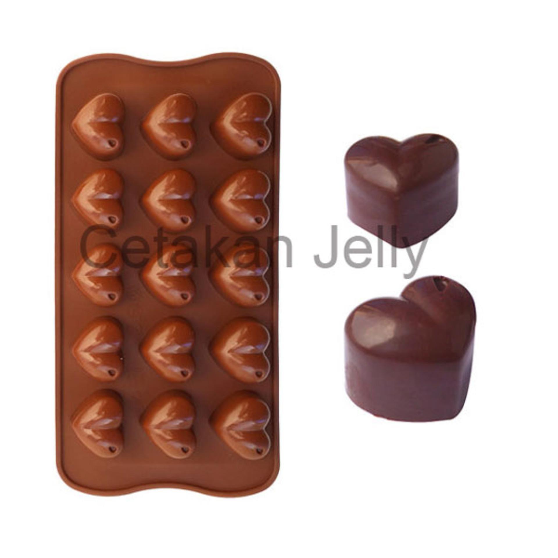 Griya Cetakan Coklat Puding Love Dot
