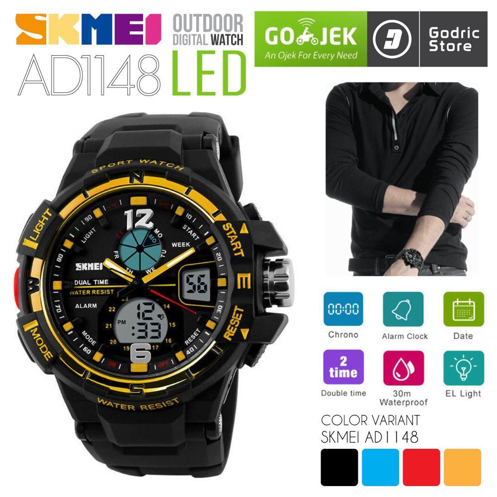 SKMEI AD1148 Jam Tangan Pria Digital Analog Sport Cowok LED Water Resistant  50M 1148 Original 0cb4b422c2