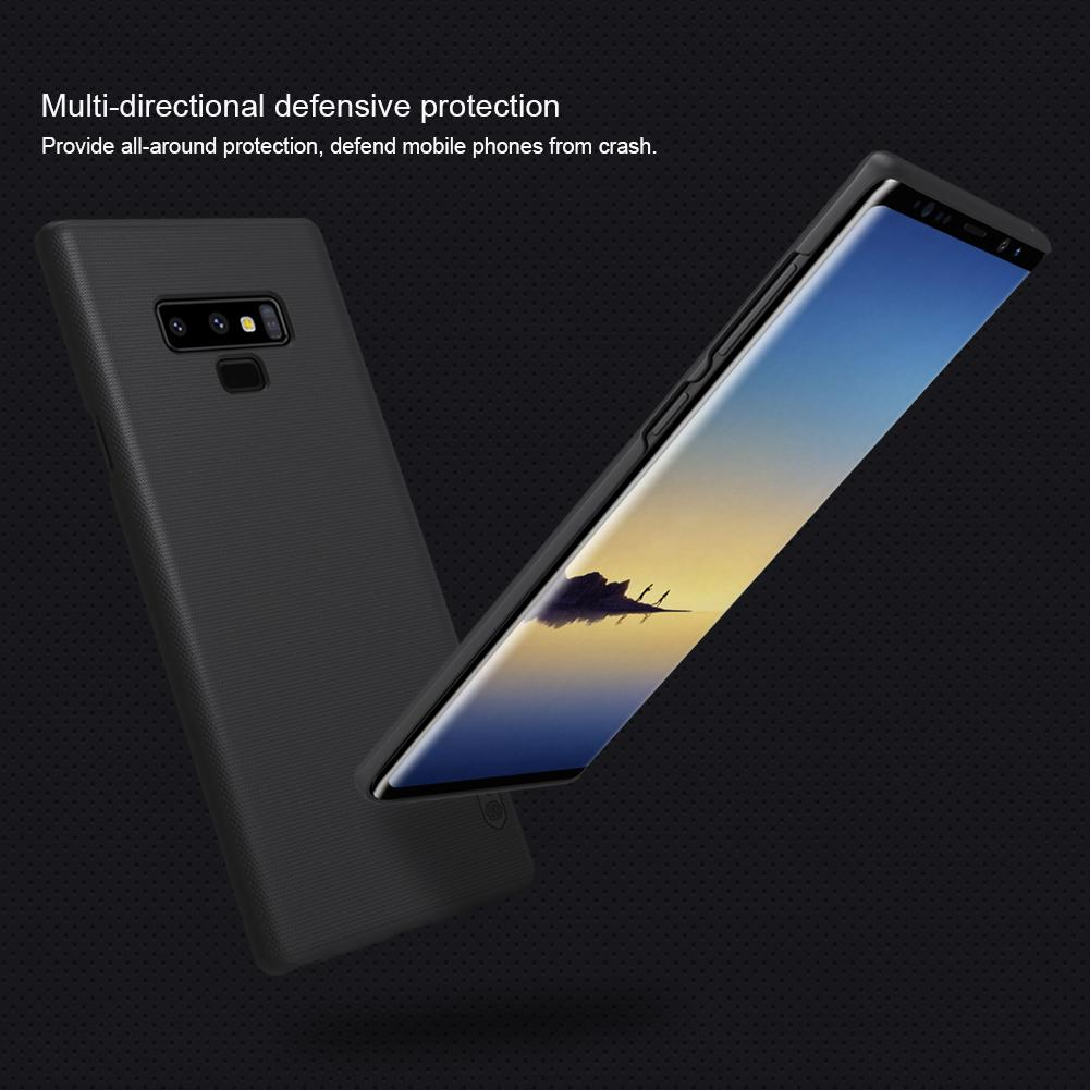 Nillkin Original For Samsung Galaxy Note 9 Super Frosted Shield Hard Case Original - Hitam
