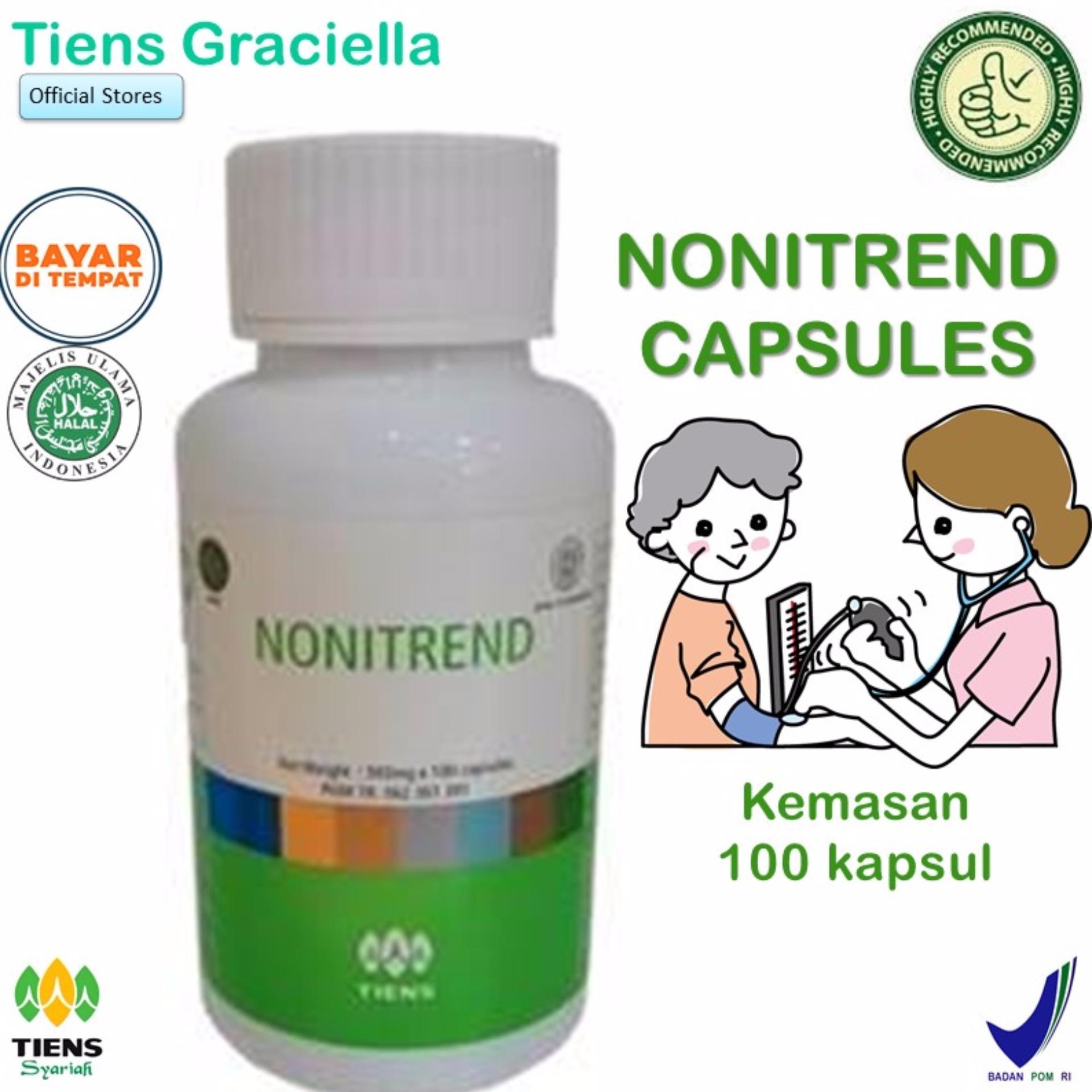 Diskon Tiens Nonitrend Multivitamin 100 Capsul Antioksidan Noni 3X Dari Vitamin C Free Member Card Tiens Graciella Tiens Indonesia
