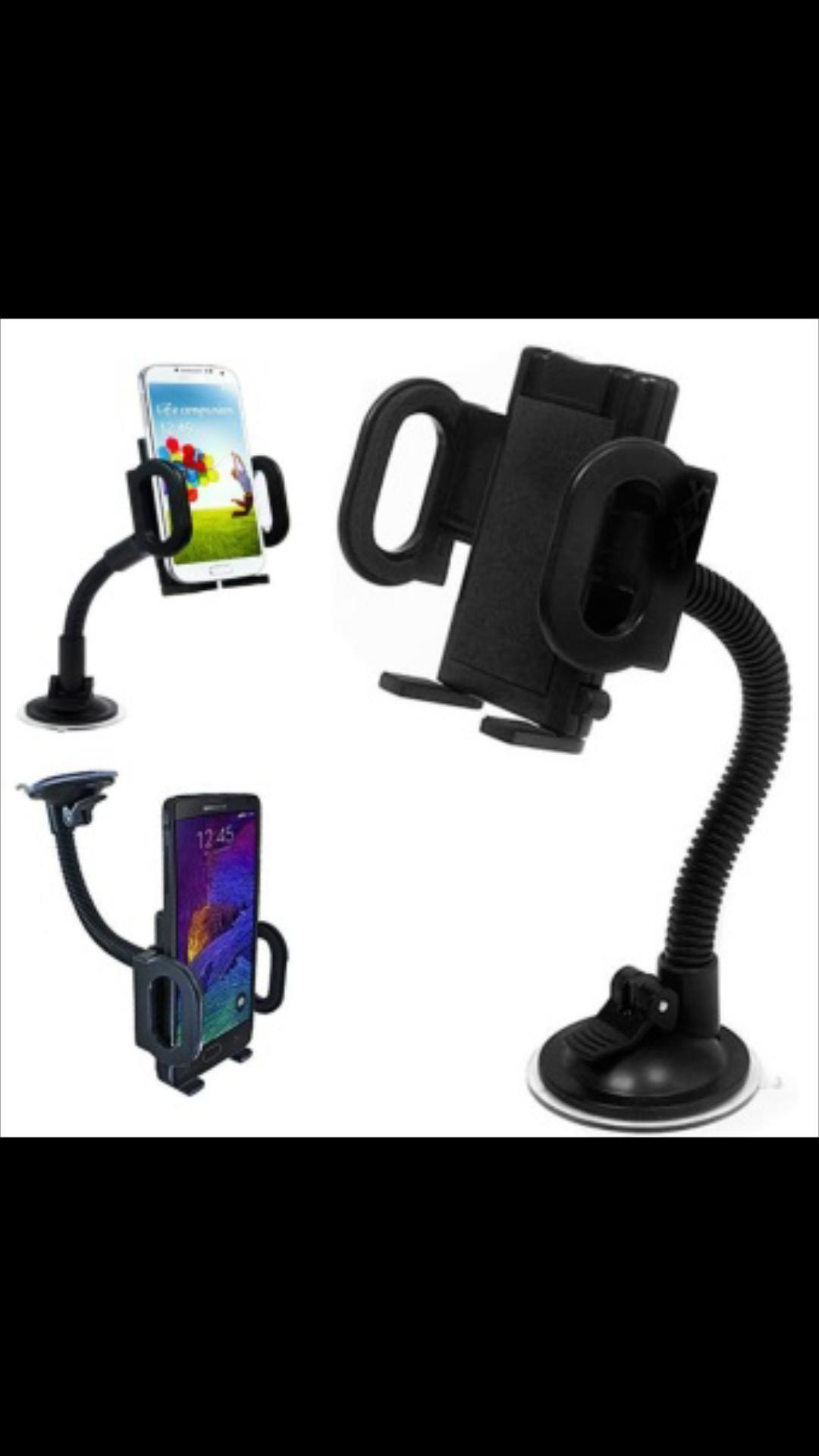 Fitur Universal Mobile Car Original Holder Bonus Carmount Ac Hp Gps Spion Di Mobil Handphone Gantungan Kaca Dan