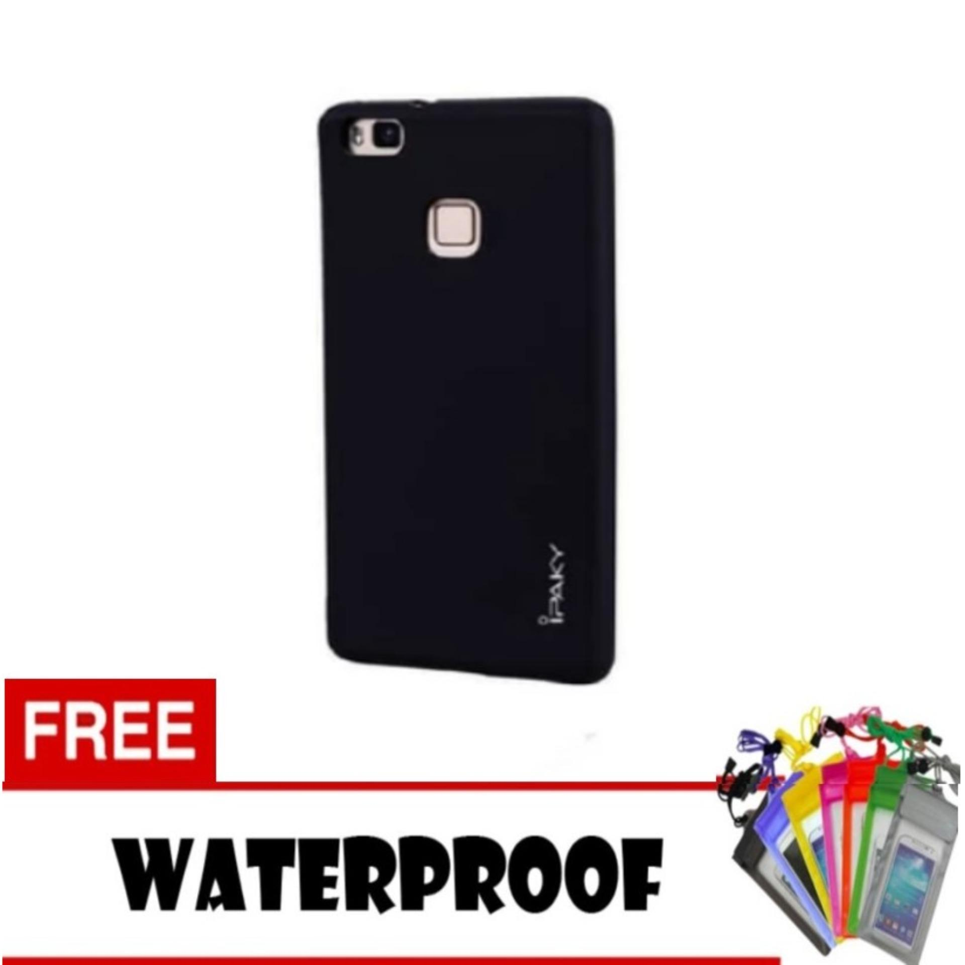 Ipaky Super Slim Hybrid Soft Case Cover Casing For Huawei P9 Lite - Hitam + Free