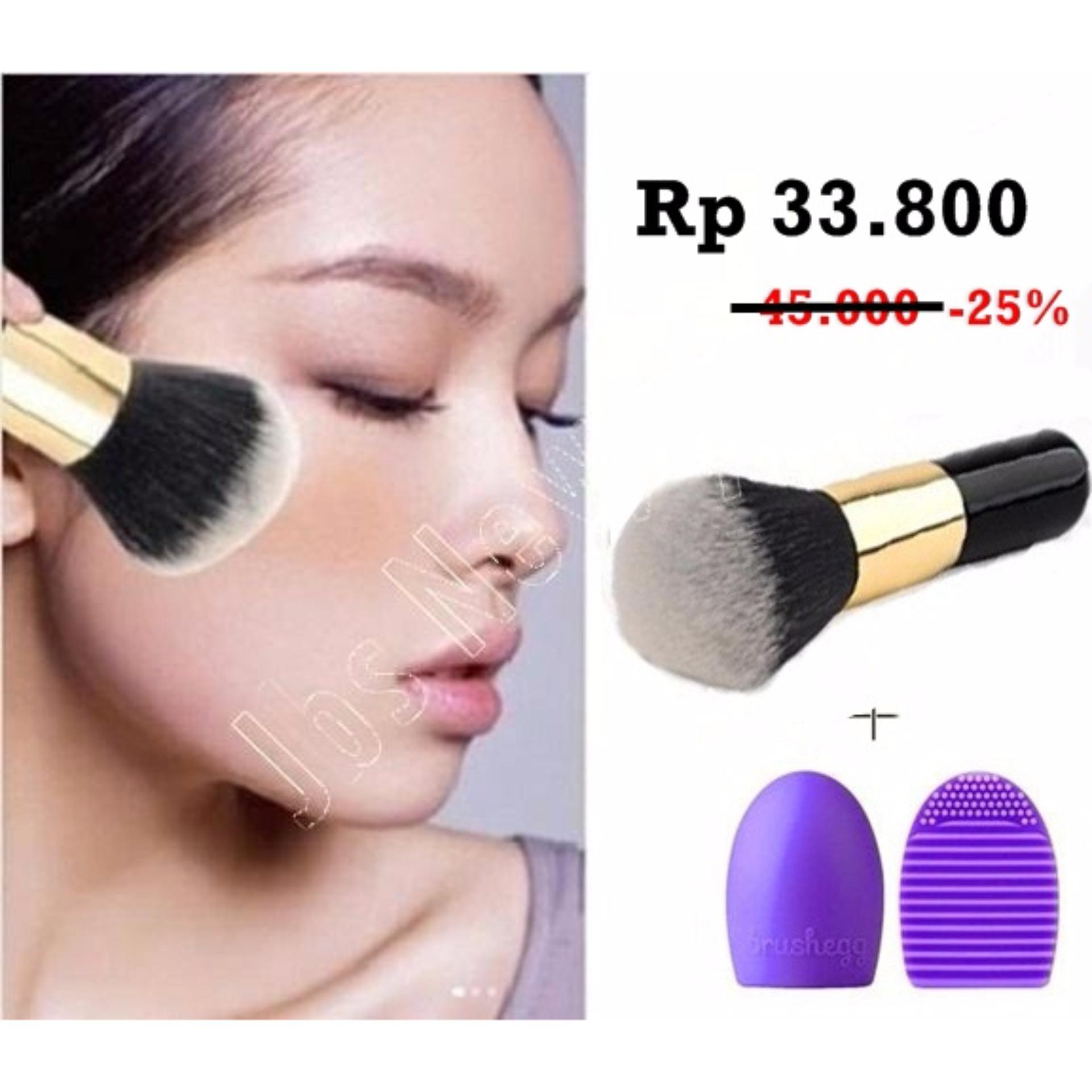 Cek Harga Baru Jbs New York Makeup Brush Little Foundation Set 12 Eyerush Gold K 046 Bundle Powder Chuby Egg Pembersih