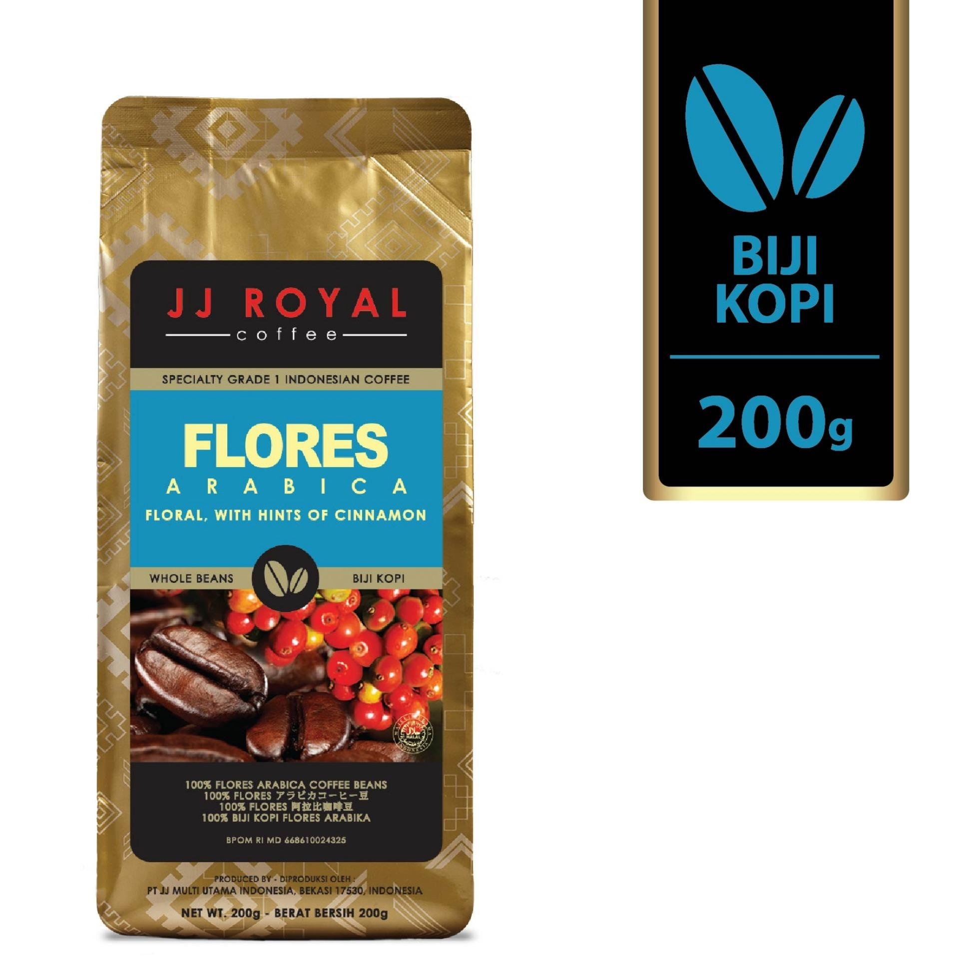 Harga Jj Royal Coffee Flores Arabica Beans Bag 200 Gr Yang Murah