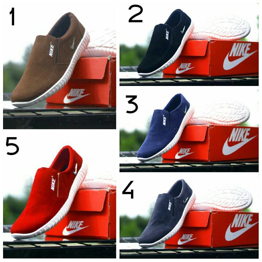 Sepatu Slop Nike Keren Sepatu Jalan Santai Pria Keren Murah Trendy- Sepatu Slip On Nike Pria Keren