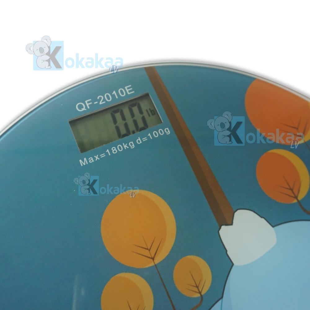 Kelebihan 26cm Timbangan Badan Digital Personal Scale Weight Dan Desain Kartun 180kg Auto On Off Qf 2010ex Bulat Motif Cartoon