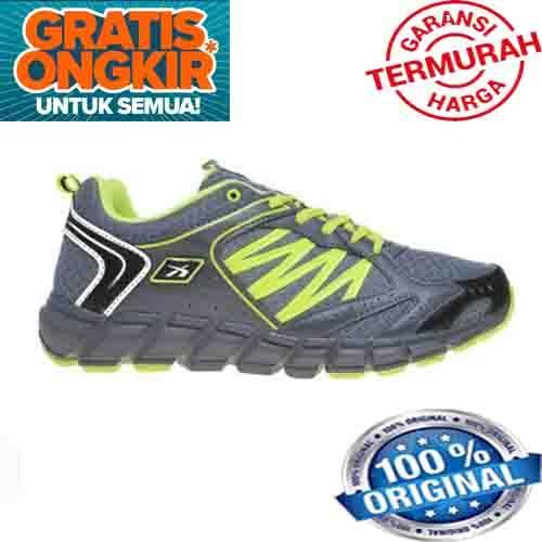 SEPATU LARI PRIA SPOTEC SPC 2.5 RUNNING BEST SELLER KUALITAS BAGUS PRODUK ORIGINAL - Grey/