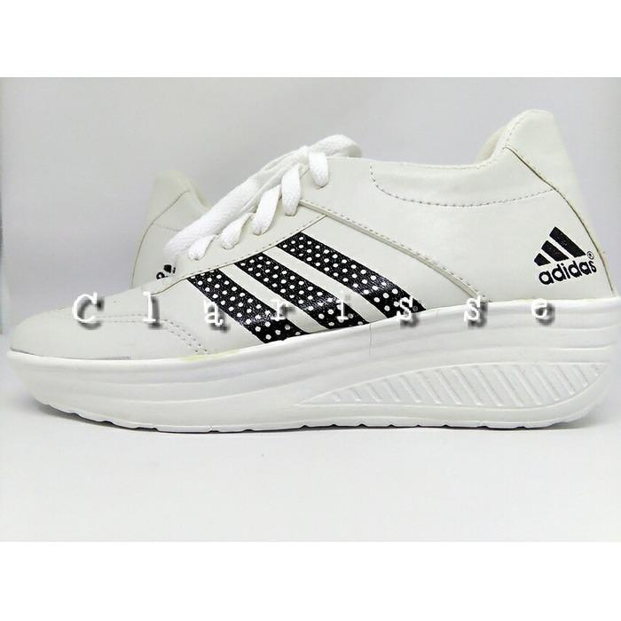 Fitur Sepatu Wedges Adds Boom List Hitam Sepatu Jalan Sepatu Keren