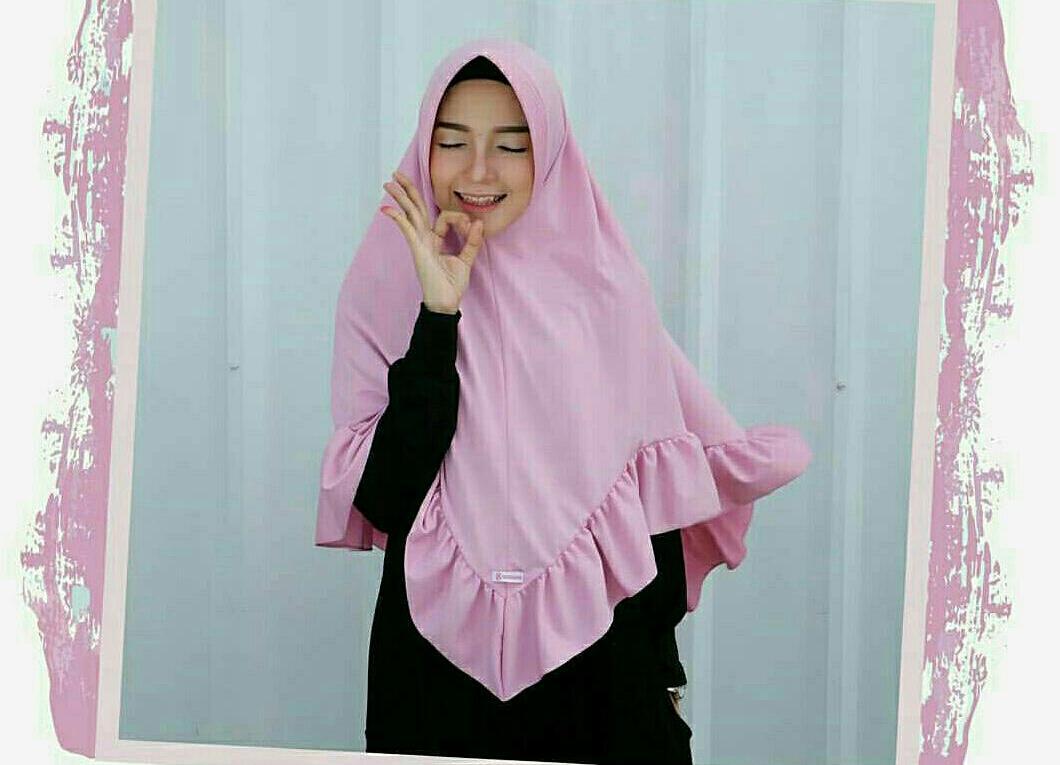 Khimar Hasya Dusty / Jilbab / Hijab / Mutiara Instan / Grosir Jilbab / Kerudung Instan
