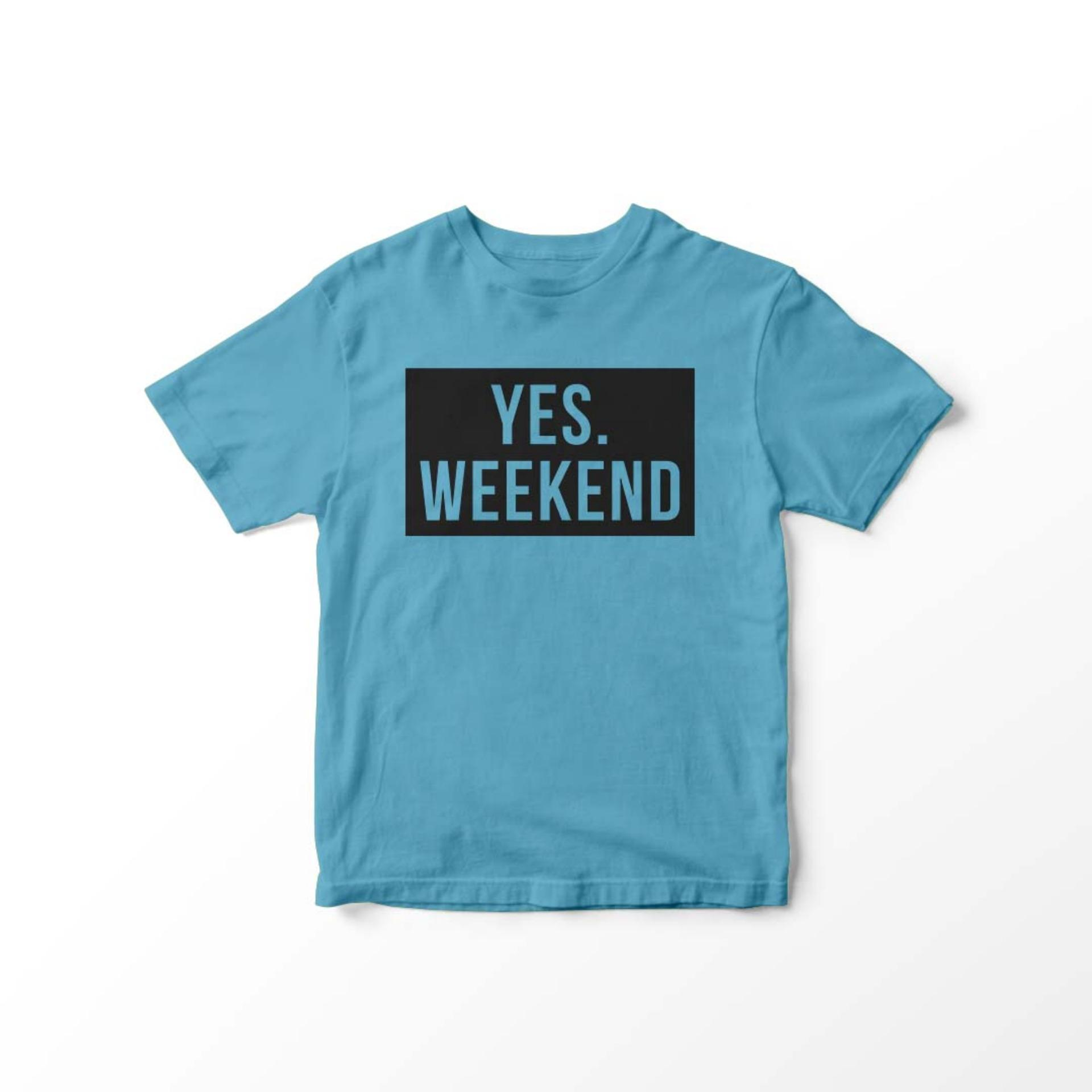 POLARISSHIRT - Baju Kaos T-shirt YES WEEKEND Tumblr Tee Cewek / Kaos Wanita /