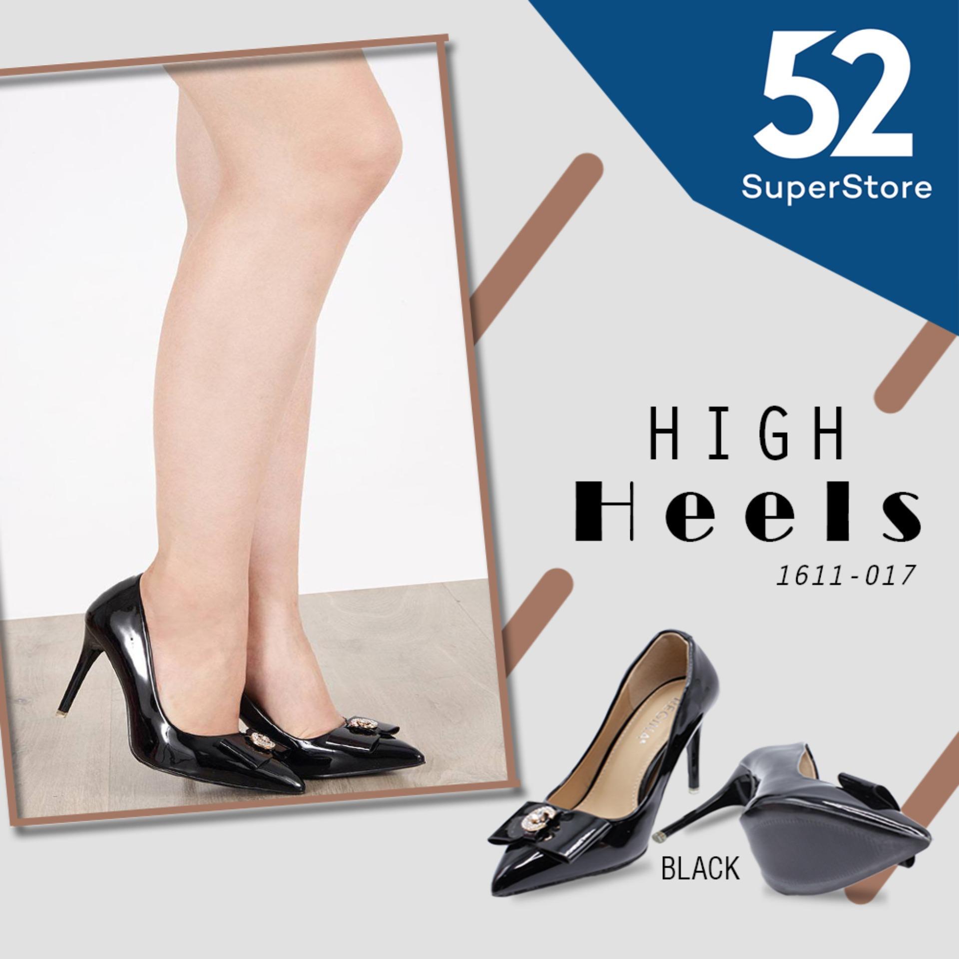 Regina Sepatu Pantofel High Heels Wanita 1611 017 Black HAK 9 cm
