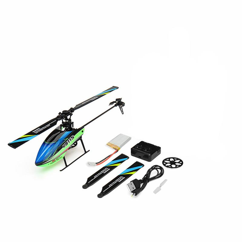 Supermall Wltoys V911S 2.4G 4CH 6-Aixs Gyro Flybarless Helikopter RC BNF - 5