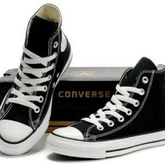 Jual Sepatu Converse Black Hight Di Indonesia