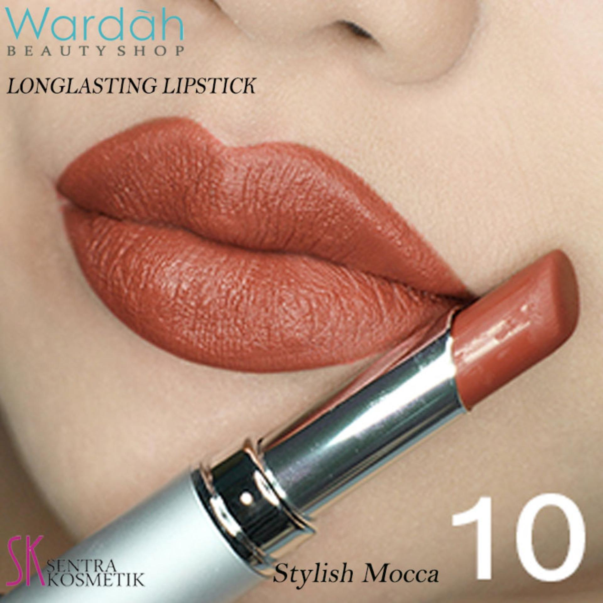 Wardah LONGLASTING Lipstick No.10 Stylish Mocca