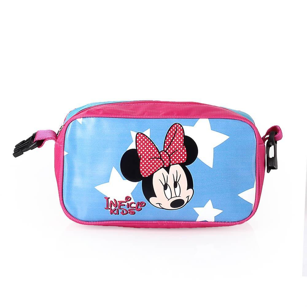 Fitur Tas Ransel Anak Sekolah Sd Minnie Mouse Set 3in1 Backpack Dompet Biru Star 5
