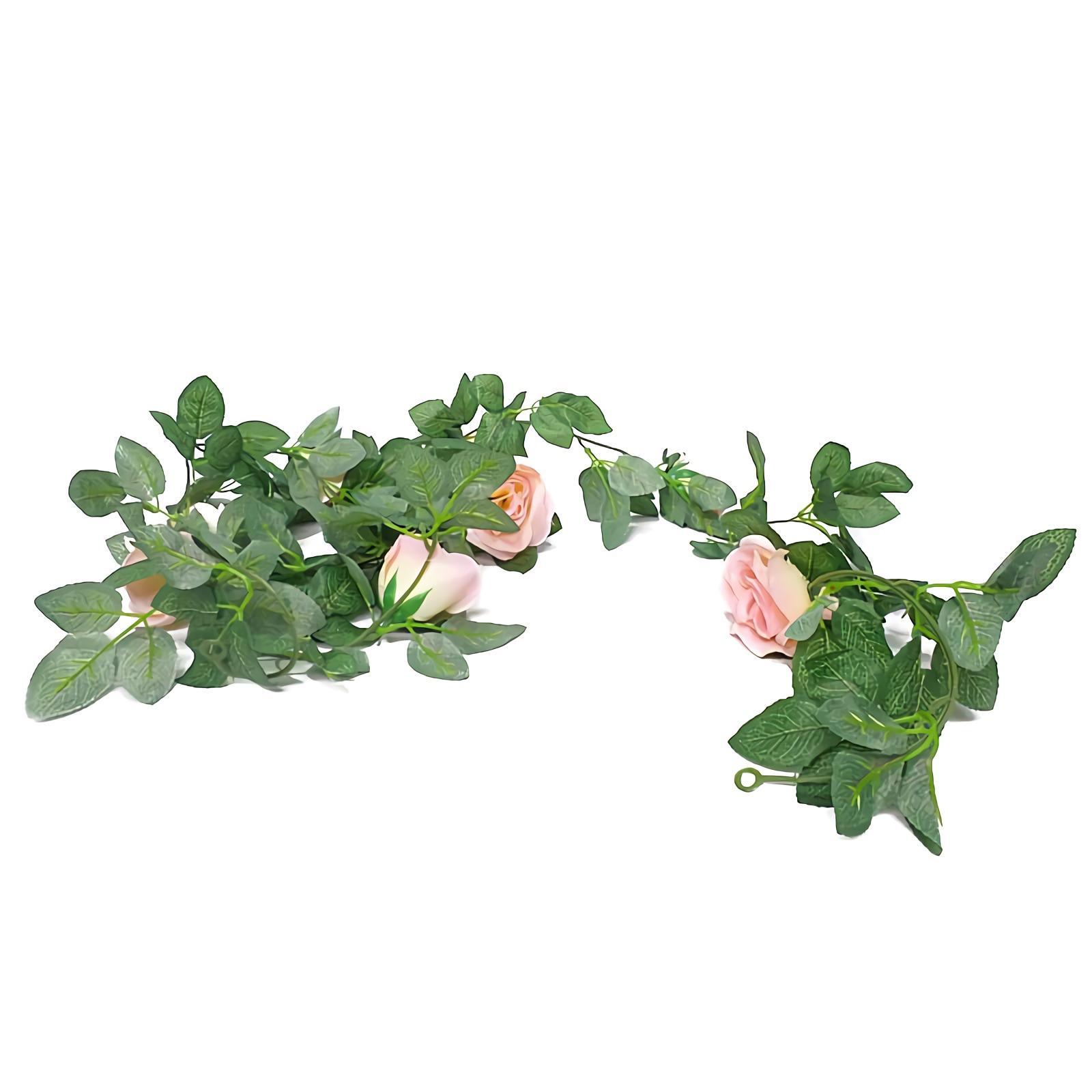 OHOME Bunga Mawar Rambat Artifisial  Panjang 225CM  Artificial Flower 8  Kuntum AN-B000489PK af83b9b4cb