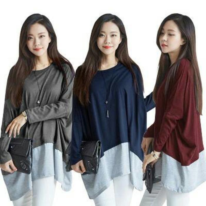 Ricardof Kemeja Jumbo Marun Daftar Update Harga Terbaru dan Source · Blouse Korea Two Tone Tee Batwing Kaos Baju Atasan Wanita Hamil Marun 4